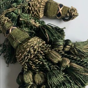 Set of large upholstery drapery tassels